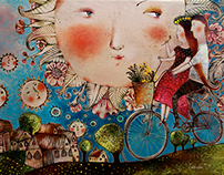 bicycles in my paintings