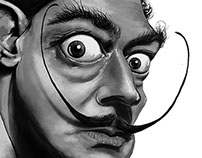 Salvador Dali - Karikatür (Caricature) -2013-
