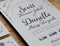 Romantic Woodland Wedding Invite Suite