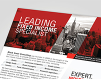 Leading Fixed Income Specialist / Black Swan