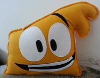 Handmade Cartoon Series Justin Time Squidgy Pillow