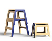 building block | ladder stool