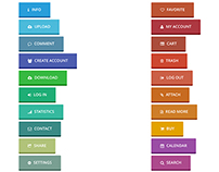 23 Call To Action Flat 3D Buttons - FREE Download