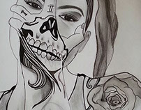 Day-of-the-dead-tattoo-sketch