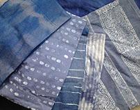 Dyed & printed scarves