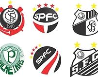 Redesign Grandes Times de São Paulo