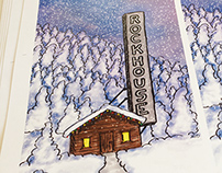 """Snowdown at the Rock House"" - Illustrated poster"