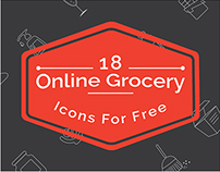Online Grocery Icons Freebie