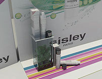 Sisley cosmetics shop window deco