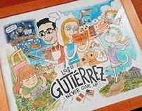 Cartoon Portrait: Los Gutiérrez