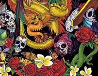 Quetzalcoatl pattern design