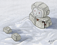 Robot in the Snow