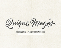 Quique Magás Wedding Photographer / Logo lettering