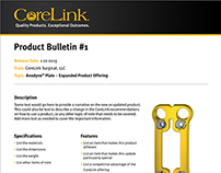 CoreLink Product Bulletin