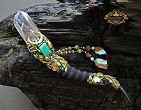 VALKYRIE VISION Smoky Quartz Crystal Wand