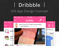 Dribbble iOS App Design Concept