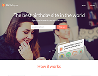 Landing Page: Birthday Reminders