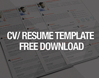 Free CV/Resume Template Download