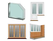 Иллюстрации для компании Городские окна