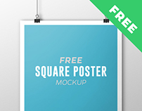 Free Square Poster Mockup (many options)