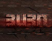 Game Style Burning Logo Mockup