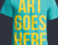 PSD T-Shirt Mockup Template FREE