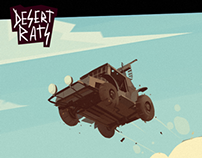 Desert Rats. Visual development for mobile game