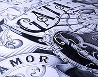 AMOR VINCIT OMNIA - a wedding gift poster