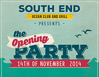 South End - Opening Party flyer