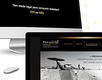 Landing Page Premium Drinks Brasil