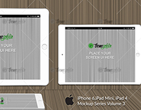 iPhone, iPad Mockup Series - Volume 3