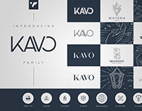 Kavo Family - 17 fonts + 24 logo templates