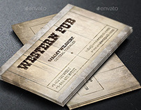 Western Pub Business Card Template