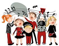 Deca pevaju rokenrol / Children sing rock'n'roll
