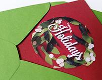 Papercut Holiday Card
