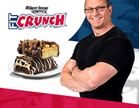 Redesign of the website for FIT Crunch Baked Bars