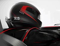 Volkswagen GTI roadster helmet (for sony gran turismo6)