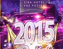 Modern New Years Eve Poster Zira Hotel
