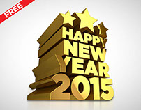 Happy New Year 2015 - 3D