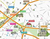 Edirne Touristy Urban Map Design