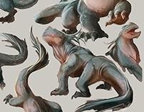 Lizard creature sketches