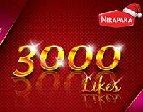 3000_Likes_@_Nirapara