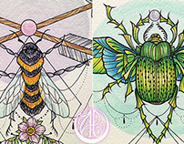 ANIMALIA - Bee & Scarab♡
