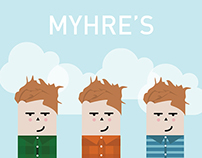 Myhre's Beer Label