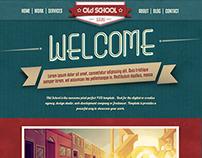 Old School - Web Template