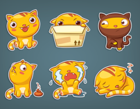 Little Red Cat Stickers