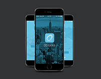 iPhone 6 iOS 8 Style App UI
