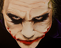 The Joker batman the dark knight