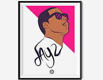 Personal Work - Jay Z illustration