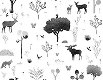NATURE pattern for the FEATHR COMPANY